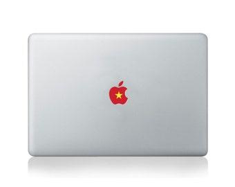 Apple Flag of Vietnam Vinyl Sticker for Macbook (13/15) or Laptop