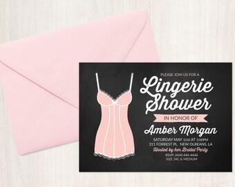Retro Lingerie Shower Invitation (Printable)