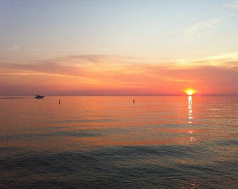 Lake Michigan setting sun
