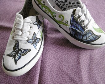Butterfly Painted Custom Shoes