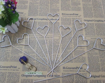 Heart Card Holders, Table Card Holder, Place Card Holders, Wire Card Holders, Bridal Party Table Decor, Wedding Card Holder-1pc
