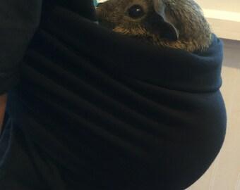 Black Adjustable Guinea Pig Sling  Pet Carrier Guinea Pig Sling