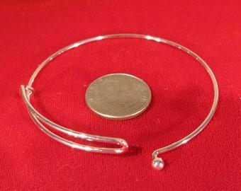 BULK! 15pc 65mm silver bangle bracelet (JC116B)