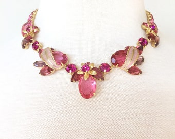 SALE Impossible to find Pretty Pink Weiss Necklace