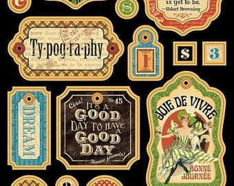 ON SALE - Graphic 45 Typography Chipboard - 4500778