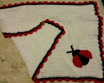 Lady Bug inspired Baby Blanket