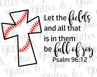 Baseball Cross SVG