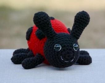 PATTERN: Lanie the Ladybug Crochet Pattern - amigurumi, stuffed toy, crochet ladybug
