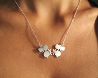 Alternative Wedding Jewelry, Wedding Party Necklace, Silver Pomegranate Necklace, Wedding Party Necklace, Elegant Bride, Silver Pendant
