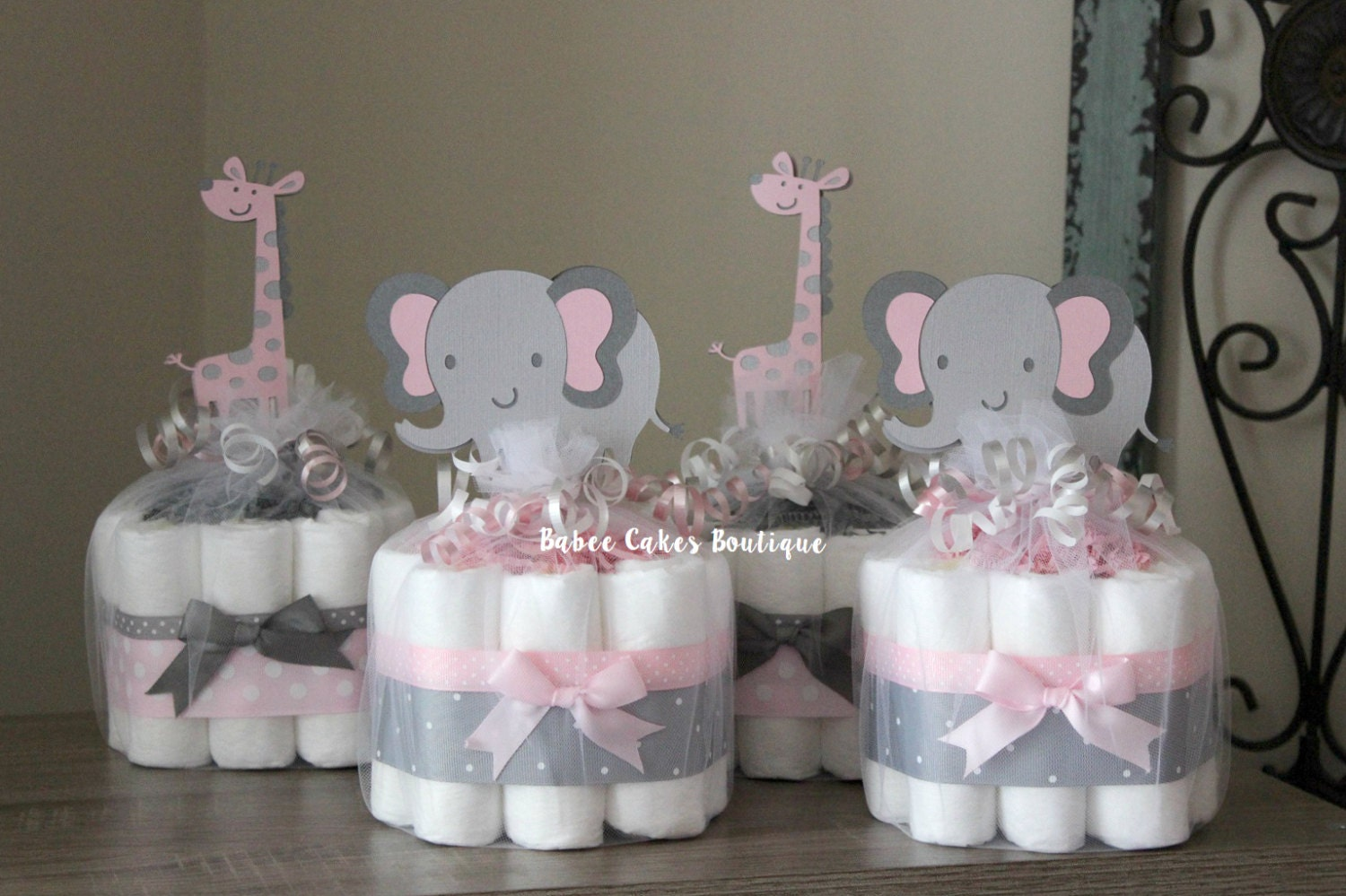 Pink Giraffe Baby Shower Decorations