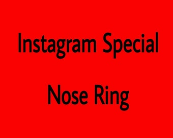 Instagram Special - Nose Ring
