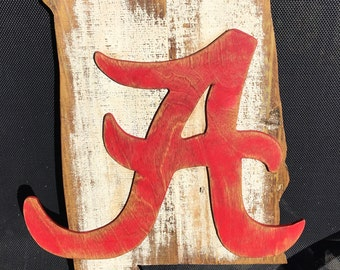 University of Alabama Wooden Sign