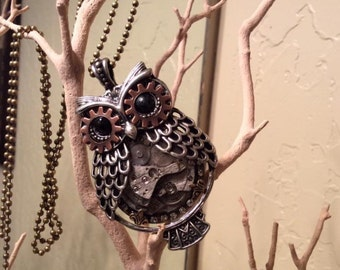 Steampunk, Owl Jewelry, Steampunk Necklace, Owl, Jewelry, Steampunk,  Necklace, Gothic, Neo Victorian, Steampunk Owl, Womens