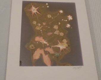 Vintage 1988 Signed 11x14 Ultraviolet Print by A.E. Woolley