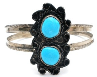 Turquoise Bracelet,Sterling Silver Cuff, Blue Gemstones,Boho Bracelet,Southwestern Jewelry,Cuff Bracelet,Sterling Bracelets