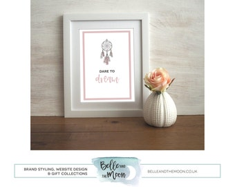 Wall Art Print with Mount for Frame | Dare To Dream
