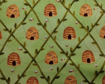 One Half Yard of Fabric Material - Bee Hives