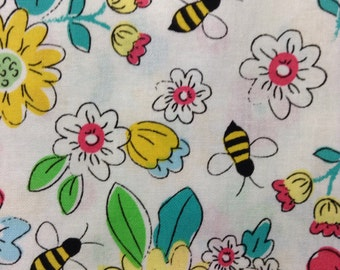 One Half Yard of Fabric Material - Eliza Floral