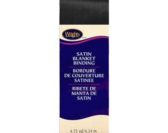 Wrights Satin Blanket Binding - Black
