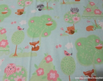 Flannel Fabric - Baby's Forest - 1 yard - 100% Cotton Flannel