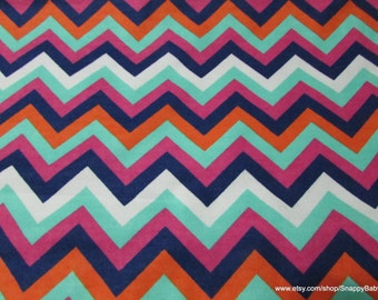 Flannel Fabric - Fancy Chevron - 1 yard - 100% Cotton Flannel
