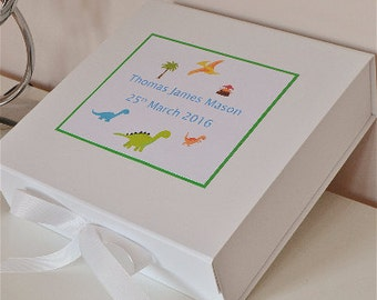 Baby boy keepsake box personalised memory box new baby gift
