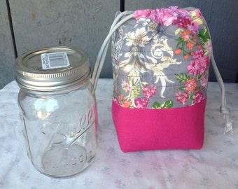 Mason Jar Lunch Bag, Mason jar Bag, Mason Jar Gift, NutriBullet Bag