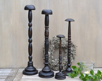 Antique Style French Wooden Millinery Hat Stand /// Different Sizes = Different Prices