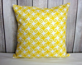 Throw Pillow. Yellow Pillow. Pillow Cover. Decorative Pillow.