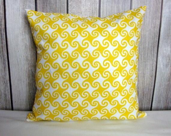 Throw Pillow. Yellow Pillow. Pillow Cover. Decorative Pillow.
