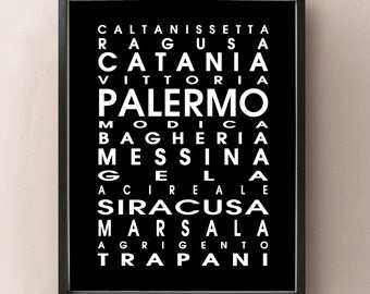 Sicily, Italy Bus Roll - Sicilia, Italia Arte