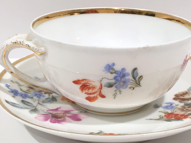 german tea cup and saucer antique tea cups vintage tea. Black Bedroom Furniture Sets. Home Design Ideas