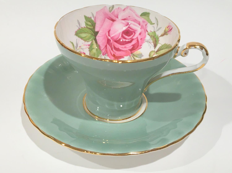 aynsley tea cup and saucer pink rose cups big rose cups tea. Black Bedroom Furniture Sets. Home Design Ideas