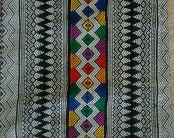Vintage 80s Ethnic Woven Fabric Shoulder Bag Purse
