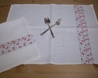 Linen Kitchen Towel Set 100% Linen