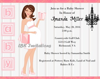 Chic Baby Shower Invitation - Girl