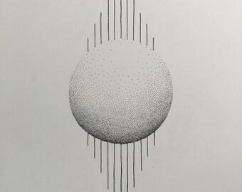 Sphere w/ Horizontal Lines