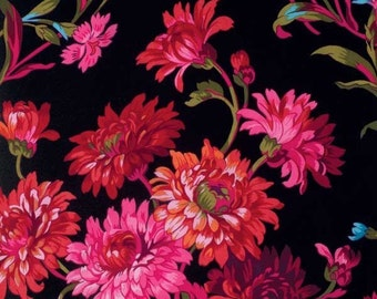 Kaffe Fassett Collective Anne Marie Black - 1/2yd