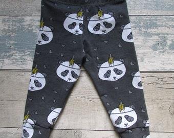 Organic Panda Baby Leggings