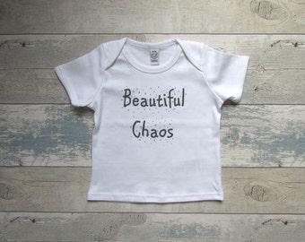 Beautiful Chaos T-shirt - Screen Printed Organic Children's Clothes