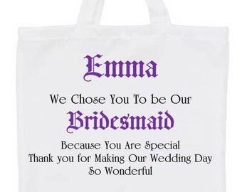 Personalised Bridal Party Wedding Gifts Bags