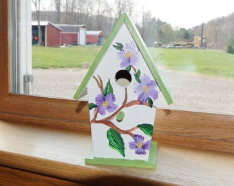 Beautiful Hand Painted Bird House