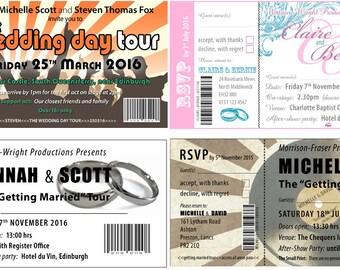 Gig Ticket Invitations