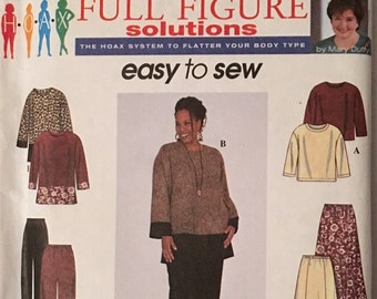 Simplicity Pattern 8385 Womans Top, Skirt and Pants  UNCUT Size 18w to 24w