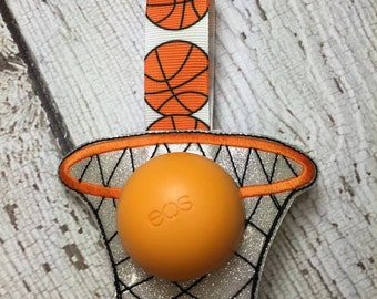 4 x 4 ITH Basketball - Basketball Hoop Sphere/Egg Lip Balm Holder - Lip Gloss - DIGITAL Embroidery Design