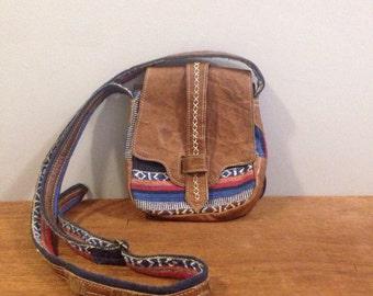 Leather Navajo Crossbody Bag
