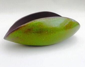Green glazed organic pot