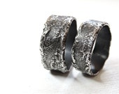 unique wedding rings silver, silver wedding bands rustic, richly structured rings, silver commitment rings, cool wilderness rings