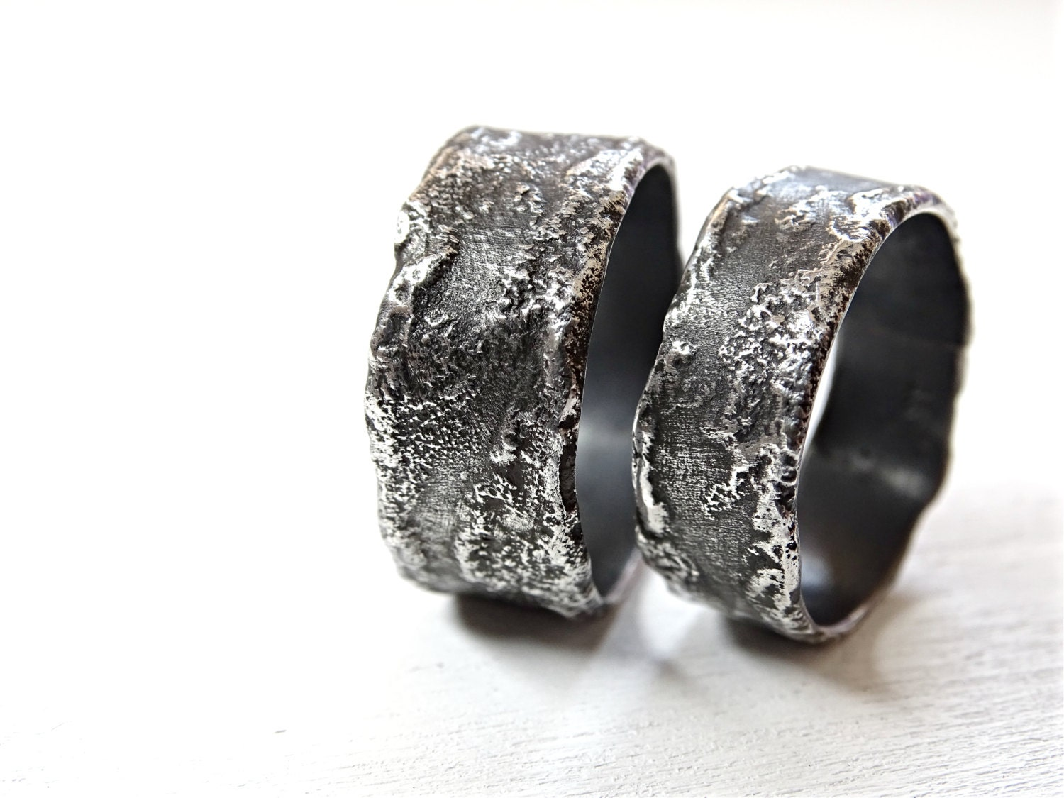 unique wedding rings silver silver wedding bands rustic