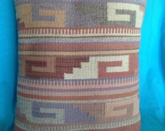 Vintage Native American Blanket Pillow